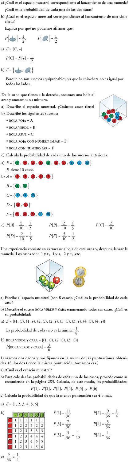 Matemáticas. Espacio muestral. Sucesos. Problemas resueltos