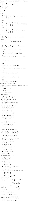 Matemáticas. Practica ejercicios ecuaciones. Problemas resueltos.