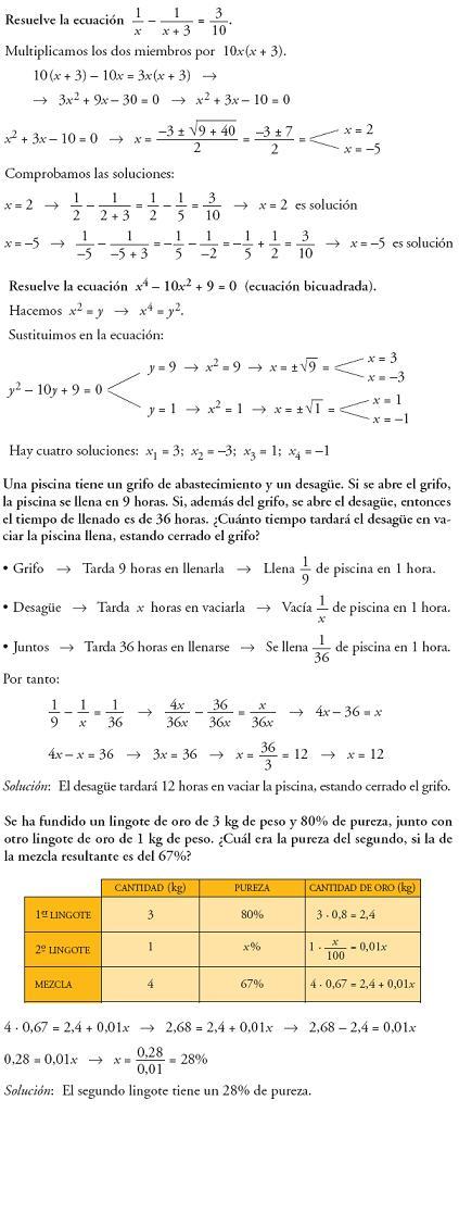 Matemáticas. Profundiza ecuaciones