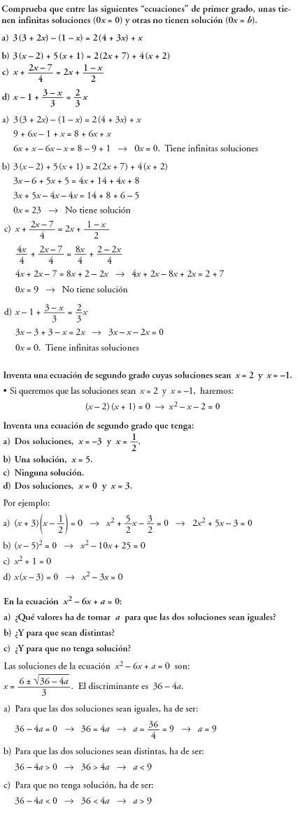 Matemáticas. Reflexionar sobre la teoría de ecuaciones