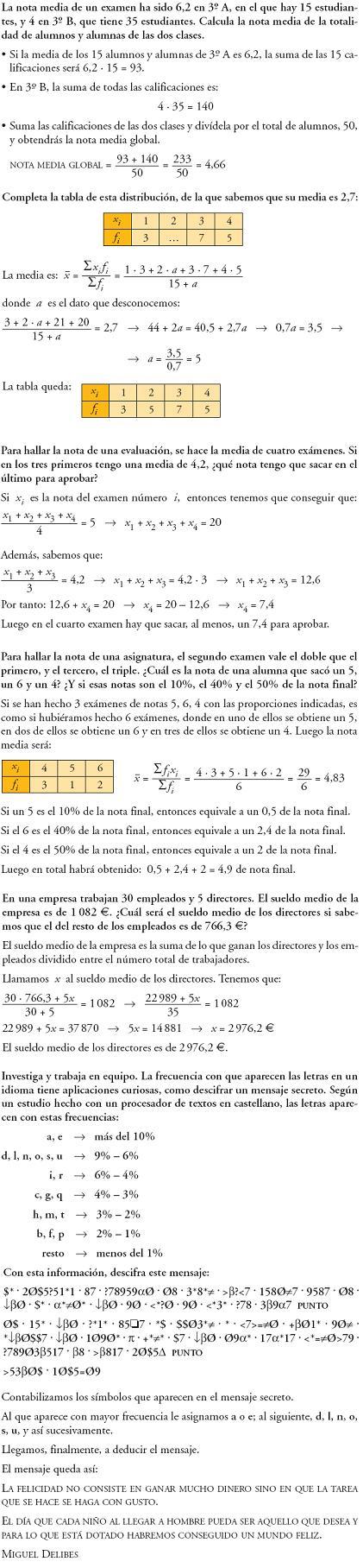 Matemáticas. Profundiza estadística