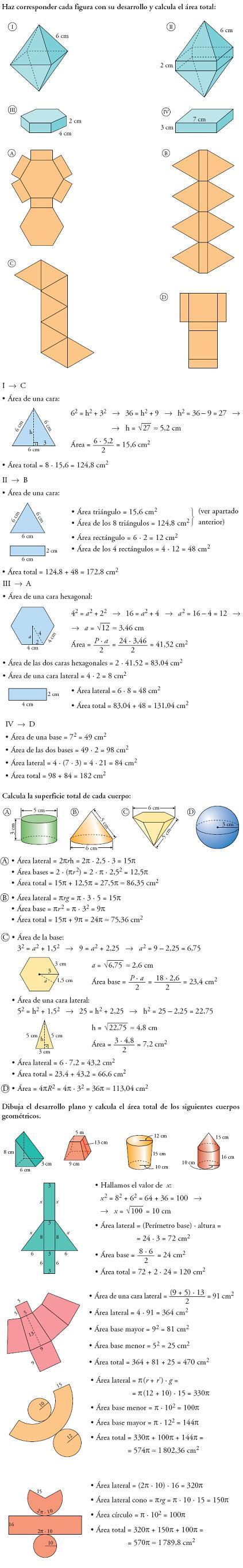 Matemáticas desarrollos y áreas problemas resueltos 3º ESO