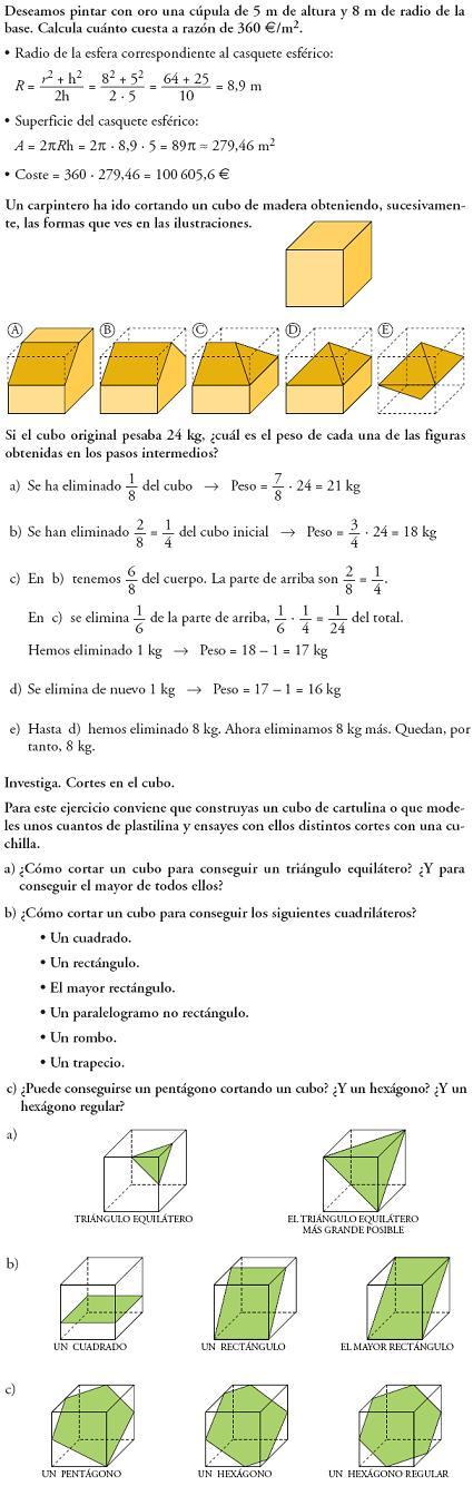 Matemáticas. Profundiza figuras en el espacio