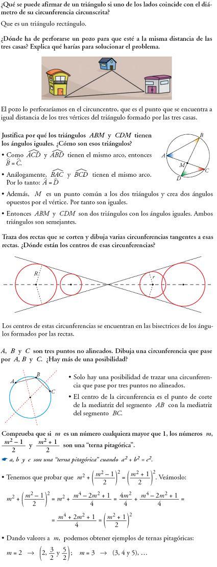 Matemáticas. Reflexionar sobre la teoría de figuras planas y lugares geometricos