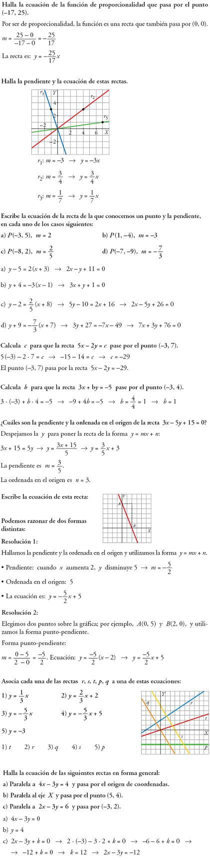 Matemáticas Ecuaciones De Recta Problemas Resueltos