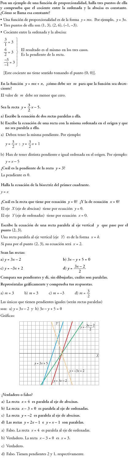 Matemáticas. Reflexionar sobre la teoría de funciones lineales