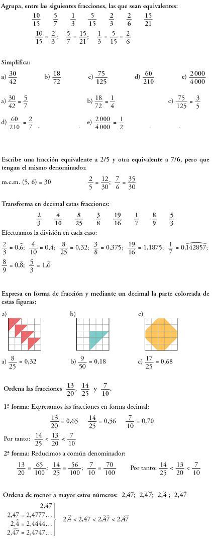 Problemas resueltos 3º ESO - Fracciones y decimales