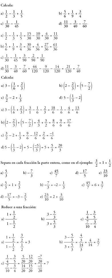 Matemáticas. Problemas resueltos 3º ESO - Operaciones con números racionales