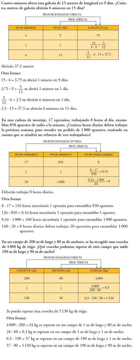 Matemáticas. Problemas proporcionalidad