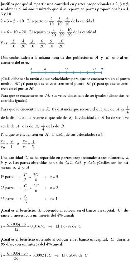 Matemáticas. Reflexionar sobre la teoría de la proporcionalidad
