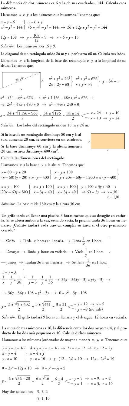 Matemáticas. Profundiza sistemas de ecuaciones